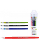 Ручка гелевая набор 4цв LEXYSOFT игольч. пиш.узел из сент каучука М-5506-4