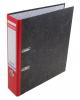 Папка-регистратор 70мм А4 'Е.К.' мраморный красный с карм. 33019