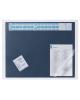 Подкладка для письма Durable с прозрачным клапаном синий 65*52см  7204-07