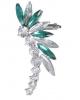 Серьги 'Каффа' лучи цвет бело-зеленый в серебре 1742405