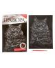 Гравюра 'Сибирская кошка' с металлическим эффектом серебро + штихель 2147947