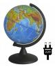 Глобус 21 см физико-политический с подсветкой на круглой подставке 10093 Глобусный мир