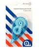 Корректирующая лента 5мм*6м синий прозрачный корпус 4062301 Attomex