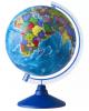 Глобус 250мм политический, круглая голубая подставка Ке01250018