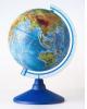 Глобус 250мм физический, круглая голубая подставка Ке01250018