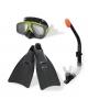 Набор для ныряния (маска, трубка, ласты) 8+лет INTEX 55959