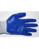 Перчатки нейлон облитые синие 8048