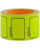 Ценник средний 35*25 мм желтый 200 шт/рулон OfficeSpace Spt_4186