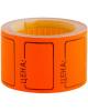 Ценник средний 35*25мм оранжевый  200 шт/рулон OfficeSpace Spt_4186