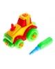 Конструктор для малышей 'Трактор', 22 дет. цвета МИКС 877016