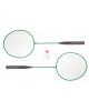 Бадминтон, набор 3 предмета: 2 металлические ракетки, волан, цвета МИКС 634829