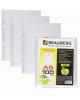 Папки-файлы перфорированные А5 BRAUBERG 1/100 гладкие Яблоко 221714