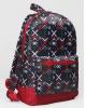 Рюкзак молодежный 30*11*44см черный фон 1 отд. карм 2224206