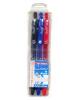Ручка маслянная шар 3 цв. 5022-3  0,7мм  J Otten