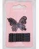 Невидимка для волос 'Провижн' 5 см (набор 13 шт) бабочка, чёрный 2788680