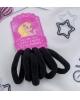 Резинка для волос 'Махрушка' (набор 6 шт) 5 см, чёрный 3522201