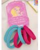 Резинка для волос 'Махрушка' (набор 6 шт) 3,5 см, малиновый, бирюзовый 3522213