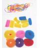 Резинки для волос 'Махрушка', ассорти (набор 16 шт. текстильных + силиконовые) 461294