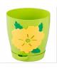 Горшок д/цветов с поддоном 1,5л Адель св/зеленый Ц 1075