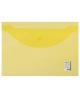 Папка -конверт на кнопке A4 Staff 120мкм до 100л.1/25   прозрачная желтая 226031