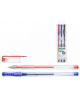 Набор гелевых ручек 3 цв NIDEA пулевидный пиш. узел 0,5мм пластик прозрачный М-5501-3