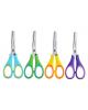 Ножницы детские для левшей 125мм пластиковые ручки с вставками из термопл.резины М-5631