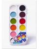 Краски карамельные 24 цв 'Бабочка' пласт. пенал без кисти AL-4712