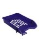 Лоток для бумаг горизонтальный сетчатый СТАММ, синий ОФ302 3870117