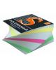 Блок бумажный 4-х цветный спираль 8*8*4см. 65гр. SPC884cS