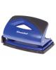 Дырокол 12л. синий пластик с линейкой Silwerhof SHARK 391012-04