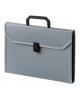 Портфель пласт. А4 0,7мм 6отд.c окантовеой серый ВРР6Lgrey