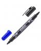 Маркер для доски двуцветный двухсторон. черно-синий IMW101/BK-BU
