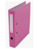 Папка-регистратор 50мм разбор. метал окантовка розовый с карман AF0601- PN Lamark