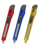 Нож канцелярский 9мм STAFF фиксатор, цвет корпуса ассорти 230484