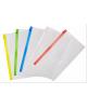 Папка на молнии ZIP Бюрократ BPM6A/1 пластик карм.для визит. цвет ассорти
