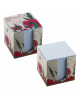 Блок д/заметок 9*9*9см белый в карт бок Hatber -Red  LN9_10641