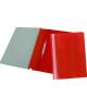 Папка-Скоросшиватель А5  Хатбер красный пластик. AS00103