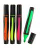 Набор маркеров-текстовыделителей, 4 цвета, 4.0 мм, треугольный, прорезиненный корпус 1699929