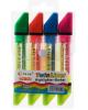 Набор маркеров текстовыделителей, 4 шт., наконечники скошенные, 5 мм, двухцветные 4044149