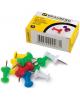 Кнопки-гвоздики 50 шт. BRAUBERG цветные в карт. коробке 220557
