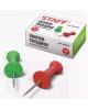 Кнопки-гвоздики 50 шт. STAFF цветные в карт. коробке 224770