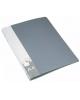 Папка с мет/заж.+в/прижимом пластик 0,70мм серый  PZ07D+C