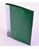 Папка с мет/заж.+в/прижимом пластик 0,70 мм зеленый PZ07D+C