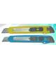 Нож канцелярский большой 18 мм. ручной фиксатор длины лезвия 803