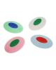Ластик RADIUS из синтетического каучука цветной, овальный 40мм 1/48 М-6751