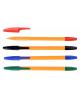 Набор ручек 4 цв. на маслян. основе цветной пласт. корпус игольчатый пиш.узел 1,0мм М-5713