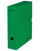 Короб архивный с клапаном Staff 75мм микрогофрокартон до 700л зеленый 128860