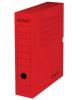 Короб архивный с клапаном Staff 75мм микрогофрокартон до 700л красный 128861