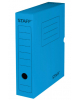 Короб архивный с клапаном Staff 75мм микрогофрокартон до 700л синий  128859