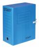 Короб архивный с завязками микрогофрокартон 150мм до 1400л Staff синяя 128876